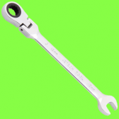 Angled ratchet combination spanners