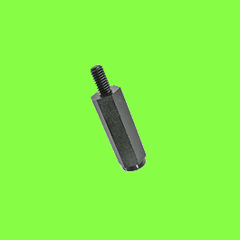 Hex black Nylon male threaded PA6,6 Standoff