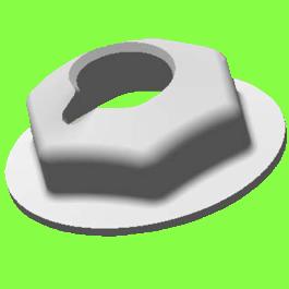 Self-Blocking Nut For Metric Stud