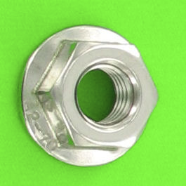 Slotted Flange Nut, A2 Stainless Steel, DIN 6923