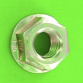 Slotted Flange Nut, Yellow Zinc Steel, DIN 6923
