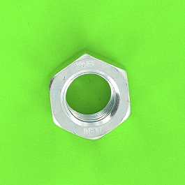Hex Nut, Hu, White Zinc Steel, DIN 934