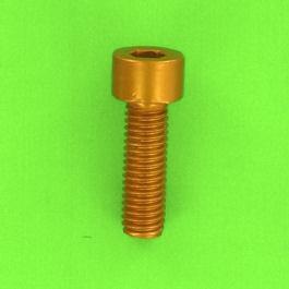 Blister pack of 5 Hex Socket Round Head Screws, P60 OA Aluminium, Gold