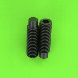 Hex Socket Headless, Dog Point, Black 14.9 Steel, DIN 915