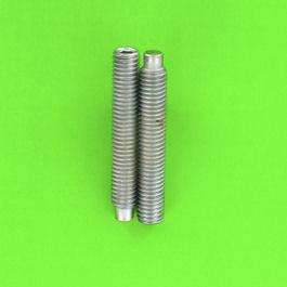 Hex Socket Headless, Dog Point, White Zinc 14.9 Steel, DIN 915
