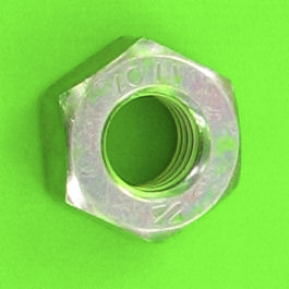 Hex Nut, Hu, Yellow Zinc Steel, DIN 934