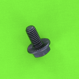 Hex Head With Ribbed Flange