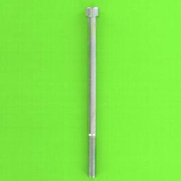 Hex Socket Round Head Screw, White Zinc 8.8 Steel, Partially Threaded, DIN 912