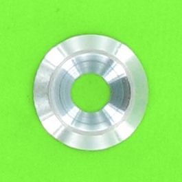 Solid Countersunk Washer, White Zinc Steel, NFE 27619