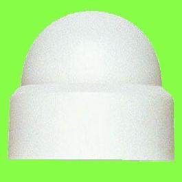 White Polyethylene Cap Nuts