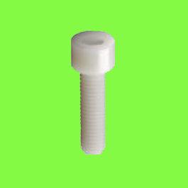 Hex Socket Round Head Screw, Natural Nylon PA6-6, DIN 912