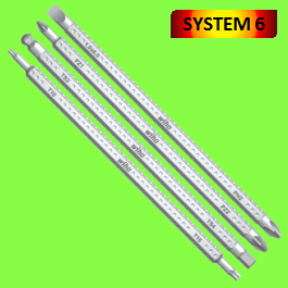SYSTEM 6 Reversible blades, serie 284