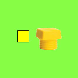 Safety Soft hammer , yellow medium hard square face