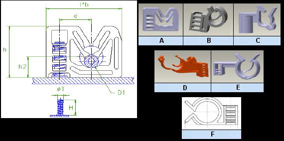 Araymond - Plastic Cable Clips