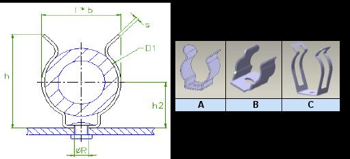 Araymond - Metal Cable Clips