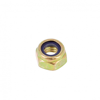 Nylstop Nut, Yellow Zinc Steel, DIN 985