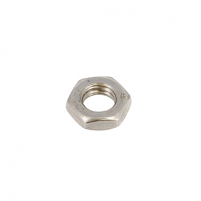 Hex jam Hm nut 100 thread stainless steel A2 DIN 439