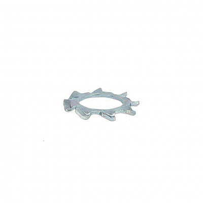 Toothed Washer, White Zinc Steel, DIN 6797A