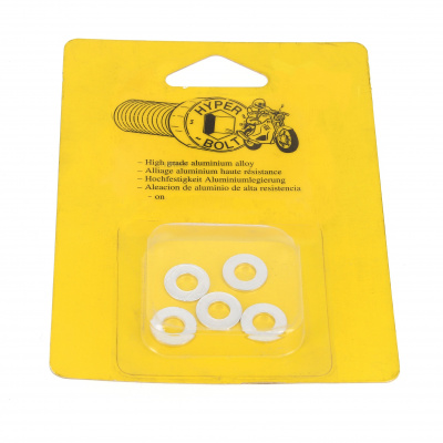 Blister pack of 5 Washers, M Series AG3 OA, Bright Silver