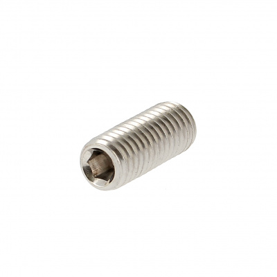 Hex Socket Headless, Flat Point, A2 Stainless Steel, DIN 913