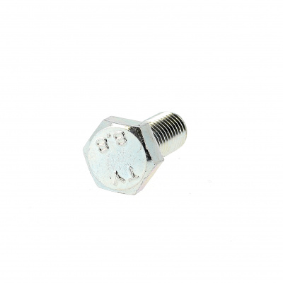 Hex Head, White Zinc 8.8 Steel, Fully Threaded, DIN 933