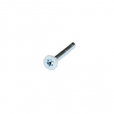 Torx Countersunk Head Sheet Metal Screw, White Zinc Steel, ISO1458C