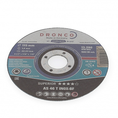 DISQUE A TRONCONNER PLAT 115X1.6X22.2  AS46 T INOX 1111-250.100