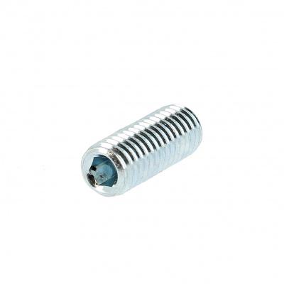 Hex Socket Headless, Cup Point, White Zinc 14.9 Steel, DIN 916
