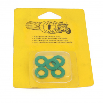 Blister pack of 5 Washers, M Series AG3 OA, Green