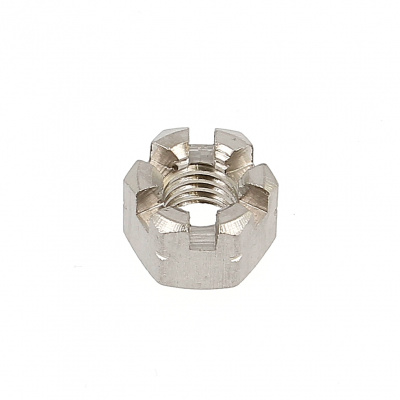Slotted Nut, A2 Stainless Steel, DIN 935