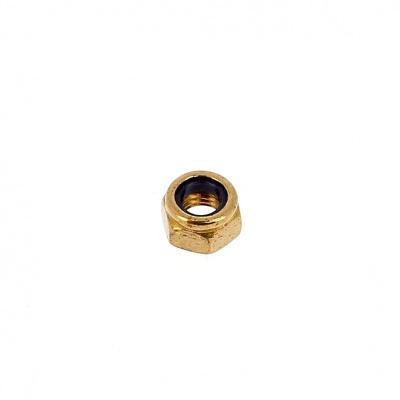 Nylstop Nut, Brass, DIN 985