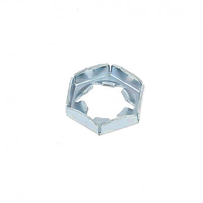 PAL Nut, White Zinc Steel, DIN 7967