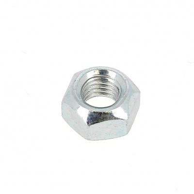 All Steel Lock Nut, White Zinc Steel301