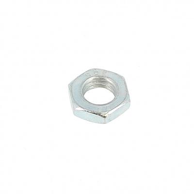 Thin Hex Nut, Hm, White Zinc Steel, DIN 439