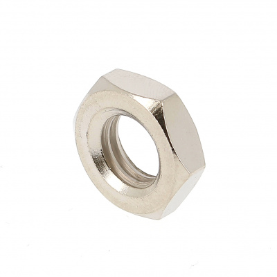 Thin Hex Nut, Hm, Nickel-Plated Brass, DIN 439