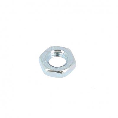 Thin Hex Nut Hm, Left Hand Thread, White Zinc Steel