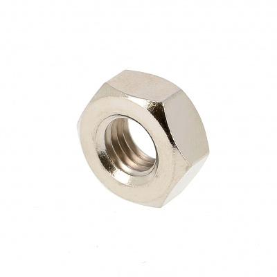 Hex Nut, Hu, Nickel-Plated Brass, DIN 934