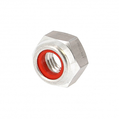 Nylstop Nut, Clear Dural OA, DIN 985