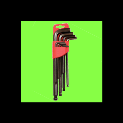 Set of 9 Ball Hex Keys, 1.5 - 10