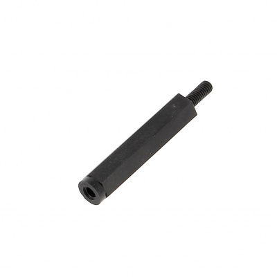 Hex black Nylon male threaded PA6,6 Standoff