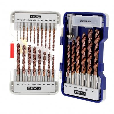 Set of 25 Metal drills Bumper+1 countersink