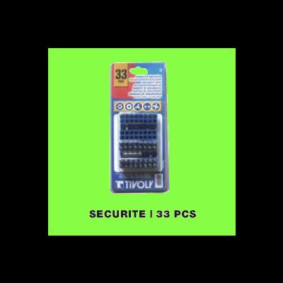 33 pieces Security set bits + 1 screwdriver handle + 1 extension