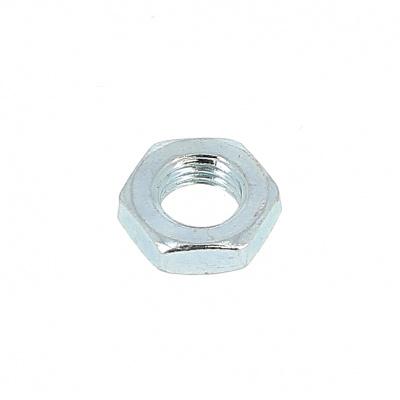 Hex jam Hm  nut 125 thread white steel galvanized plated DIN 439