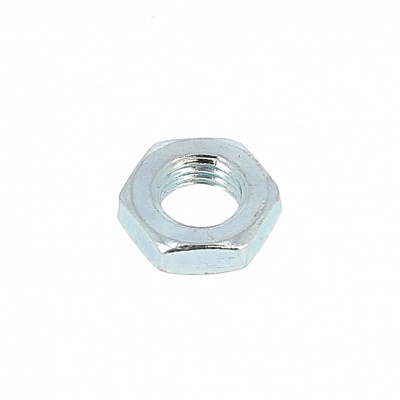 Hex jam nut Hm Thread 150 white zinc plated steel DIN 439