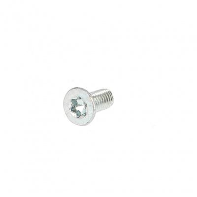 Thread-forming, Countersunk Torx Head, White Zinc Steel, DIN 7500M