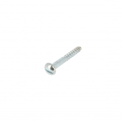 Slotted Round Head Wood Screw, White Zinc Steel135