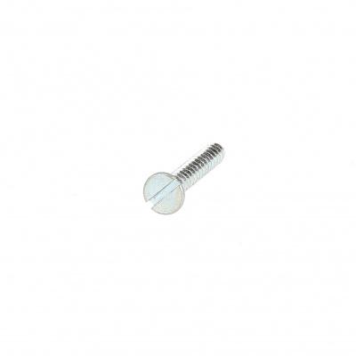 Slotted Raised Countersunk Head Sheet Metal Screw, White Zinc Steel, DIN 7973