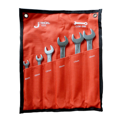 Plated Chrome mixed spanners, 6 pieces (8 to 18)