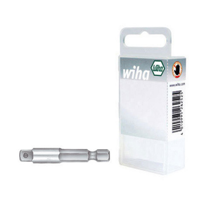Tool shaft for nut driver sockets, style E 6,3