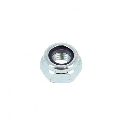 Nylstop Selflocking Hex Nut 125 thread White stainless steel